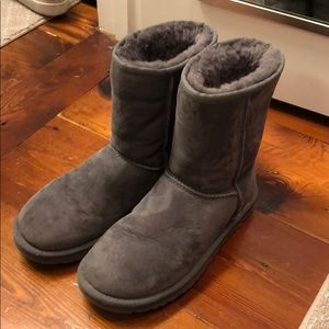 Gray uggs booties
